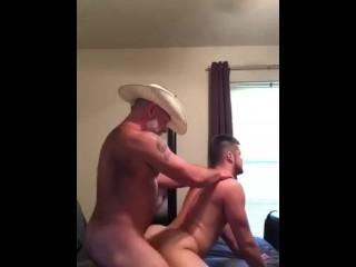 Cowboy Silver Daddy Fucks Slutty Bubble Butt Son