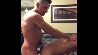 Hottest Dad recording himself fucking stepson